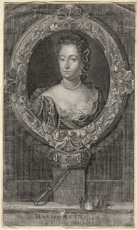 Queen Mary II, by Étienne Jehandier Desrochers, after  Jan van der Vaart - NPG D10669