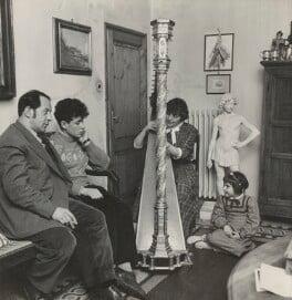 Pietro Annigoni; Anna Annigoni (née Maggini); Benedetto Annigoni; Maria Ricciarda Annigoni, by (Edward) Russell Westwood, 1955 - NPG x35255 - © estate of Russell Westwood / National Portrait Gallery, London