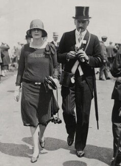 Margot Cavendish (née Mills), Lady Chesham; John Compton Cavendish, 4th Baron Chesham, by London News Agency - NPG x135707