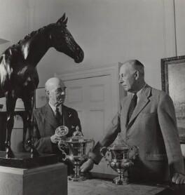 Sir Harold Augustus Wernher, 3rd Bt and Robert Jeffens, by (Edward) Russell Westwood - NPG x35597