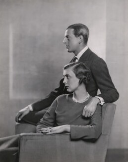 Princess Marina, Duchess of Kent; Prince George, Duke of Kent, by Dorothy Wilding, October 1934 - NPG x35653 - © William Hustler and Georgina Hustler / National Portrait Gallery, London
