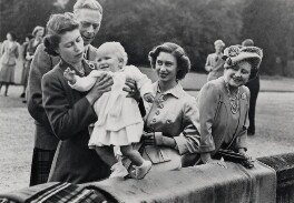 Queen Elizabeth II; King George VI; Princess Anne; Princess Margaret; Queen Elizabeth, the Queen Mother, by Unknown photographer - NPG x35706