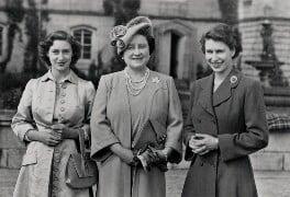 Princess Margaret; Queen Elizabeth, the Queen Mother; Queen Elizabeth II, by Unknown photographer - NPG x35709