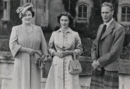 Princess Margaret; Queen Elizabeth, the Queen Mother; King George VI, by Unknown photographer - NPG x35710