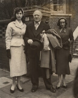 Esther Garman; Jacob Epstein; Beth Lipkin, by P.A. Reuter Photos Ltd - NPG x36035