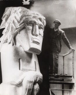 Jacob Epstein with 'Behold The Man', by Central Press - NPG x36038