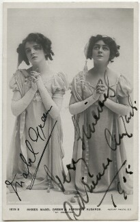 Mabel Green as Marie-Blanche; Adrienne Augarde as Blanche-Marie in 'The Little Michus', published by Rotary Photographic Co Ltd, 1905 - NPG x36067 - © National Portrait Gallery, London