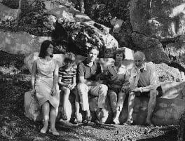 Juan Graves; Beryl Graves; Tomás Graves; Lucia Graves; Robert Graves, by Tom Blau - NPG x36148