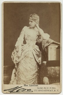 Lillie Langtry, by Jose Maria Mora, 1884 - NPG x36217 - © National Portrait Gallery, London