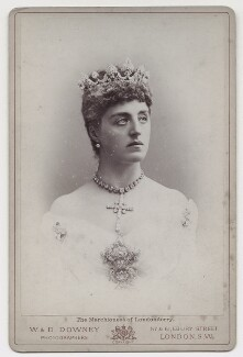 Theresa Susey Helen (née Talbot), Marchioness of Londonderry, by W. & D. Downey - NPG x36219