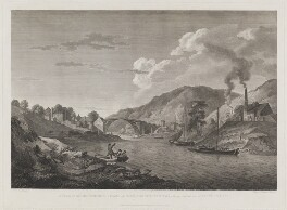 A View of the Iron Bridge, in Coalbrook Dale, Shropshire. Taken from the bottom of Lincoln Hill, by Francis Chesham, published by  John Boydell, and published by  Josiah Boydell, after  George Robertson - NPG D1382