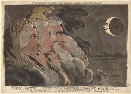 'Wierd sisters; ministers of darkness; minions of the moon', by James Gillray, published by  Hannah Humphrey - NPG D12436