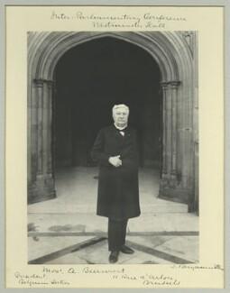 Auguste Marie François Beernaert, by Benjamin Stone - NPG x36469