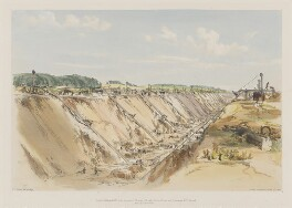 Tring Cutting, June 17th 1839, by John Cooke Bourne, published 1839 - NPG D1391 - © National Portrait Gallery, London