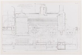 Cross Section of a Locomotive by Robert Stephenson, by L. Guignot, after  James Dredge - NPG D1390
