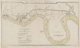 Plan of the River Thames with the Proposed Docks and Cut, by J. Cary, after  Daniel Asher Alexander - NPG D9026