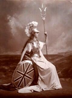 Edith Amelia (née Ward), Lady Wolverton as Britannia, by Lafayette, 1897 - NPG  - © National Portrait Gallery, London