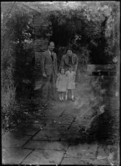 Alec Waugh; Veronica Keeling (née Waugh); Andrew Alexander Waugh; Joan Waugh (née Chirnside), by Bassano Ltd - NPG x37310