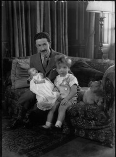 Lord Glentoran with his son and daughter, by Bassano Ltd, 21 December 1937 - NPG x37412 - © National Portrait Gallery, London