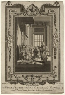 The Bill of Rights ratified at the Revolution by King William, and Queen Mary, previous to their Coronation, possibly by J. Cary, after  Samuel Wale - NPG D10673