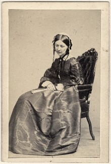 Florence Nightingale, printed by Henry Lenthall, after  William Edward Kilburn, 1864-1877 (circa 1856) - NPG  - © National Portrait Gallery, London