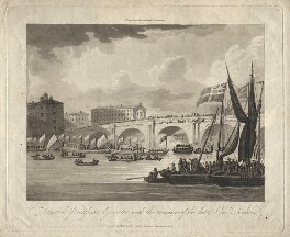 Funeral Procession by Water with the Remains of the Late Lord Nelson, after Unknown artist - NPG D10681