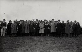 Gladys Lloyd Cobham; Sir Alan John Cobham and members of Banbury town council, by Unknown photographer - NPG x3774
