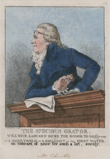 James Christie ('The specious orator'), by and published by Robert Dighton, published 25 March 1794 - NPG  - © National Portrait Gallery, London
