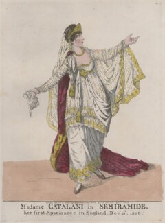 Angelica Catalani ('Madame Catalani in Semiramide'), by and published by Robert Dighton - NPG D10689
