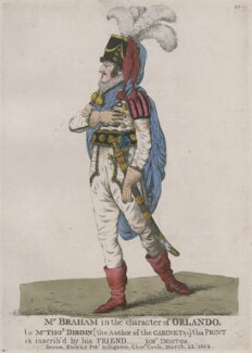 John Braham ('Mr Braham in the character of Orlando'), by and published by Robert Dighton - NPG D10688