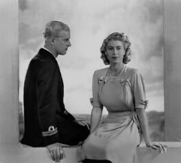 Queen Elizabeth II; Prince Philip, Duke of Edinburgh, by Dorothy Wilding - NPG x37999
