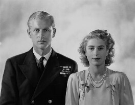 Queen Elizabeth II; Prince Philip, Duke of Edinburgh, by Dorothy Wilding - NPG x38002