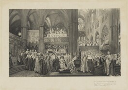 The Coronation Ceremony of His Most Gracious Majesty King George V in Westminster Abbey. 22nd June 1911, published by David Doig, after  John Henry Frederick Bacon - NPG D10703