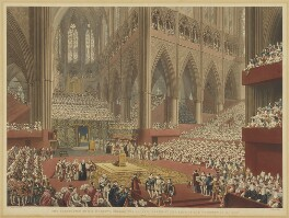 The Coronation of His Majesty, George the Fourth: Taken at the Time of the Recognition. July 19, 1821, by Matthew Dubourg, after  James Stephanoff, published 1822 - NPG  - © National Portrait Gallery, London