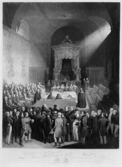The Reform Bill Receiving the King's Assent by Royal Commission, 7 June 1832, by William Walker, by  Samuel William Reynolds Jr, after  Samuel William Reynolds, published 1836 - NPG D10714 - © National Portrait Gallery, London