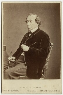 Benjamin Disraeli, Earl of Beaconsfield, by W. & D. Downey - NPG x38390