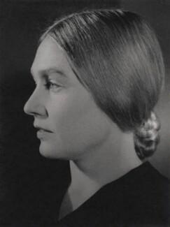 Patricia Frances (née O'Flynn), Lady Strauss, by Bertl Sachsel - NPG x38845