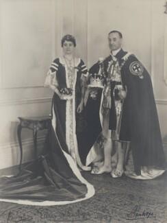Eileen Agatha Stanhope (née Browne), Countess Stanhope; James Richard Stanhope, 7th Earl of Stanhope, by Vandyk - NPG x38847