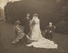 Mary Hodgson Trotter (née Gillett); Reginald Cecil Powys-Lybbe; Lilian Powys-Lybbe (née Trotter); Henry Eden Trotter (né Brown), by Walton Adams - NPG x38853