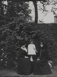 Peggy Middleton with her grandmothers, by Unknown photographer - NPG x38865