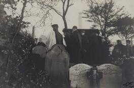 The burial of Christina Georgina Rossetti (including Glendinning Nash; William Michael Rossetti and family), copy by Howard M. King - NPG x38877
