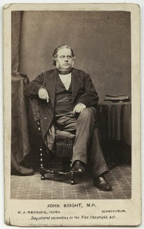 John Bright, by Henry Joseph Whitlock, 1862 - NPG x38976 - © National Portrait Gallery, London