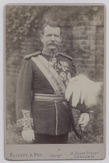 Sir Charles Warren, by Elliott & Fry - NPG x39345