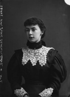Hon. Sybil Burnaby (née Cholmondeley), by Alexander Bassano - NPG x398