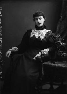 Hon. Sybil Burnaby (née Cholmondeley), by Alexander Bassano - NPG x400