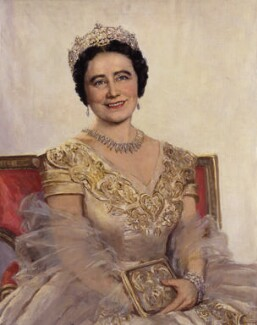 Queen Elizabeth, the Queen Mother, by Beatrice Johnson, based on a photograph by  Dorothy Wilding - NPG x45069