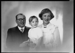 Thomas Charles ('Tom') Arnold; Sir Thomas Richard ('Tom') Arnold; Helen Breen Arnold (née Moore), by Lenare, 14 October 1949 - NPG x4006 - © National Portrait Gallery, London