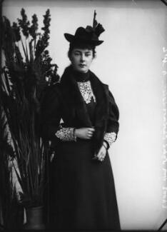 Hon. Sybil Burnaby (née Cholmondeley), by Alexander Bassano - NPG x401