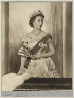 Queen Elizabeth II, by Dorothy Wilding - NPG P870(6)