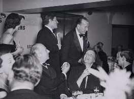 Group including Cecil Beaton, Noël Coward, Greta Garbo and Lord David Cecil, by Fox Photos Ltd - NPG x40456